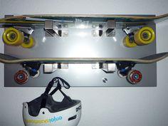 Skateboard Wall Rack - IKEA Hackers