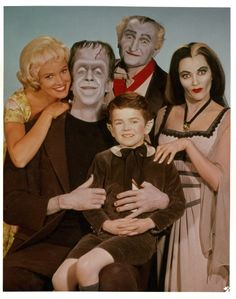 Here's the entire Munster family. | 12 Jarring Color Images Of Black And White TV Shows
