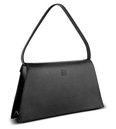 LOEWE Triangle leather envelope bag (Black