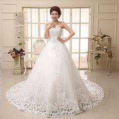 Vestido de Boda Corte Evasé Capilla - Sweetheart Encaje – USD $ 110.39