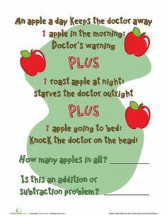 """""""An Apple a Day"""" Math"""
