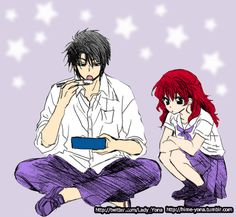 Haku x Yona School Days This is my first works with adding background. Hope you like it Colors + Backgroud By:Hime-Yona