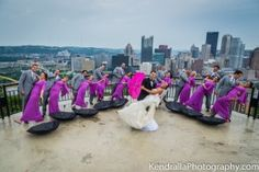 Rainy Wedding Pictures in Pittsburgh | Mt Washington