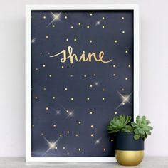 Metallic Shine Art Print by Cloud 9 Creative