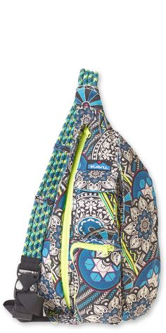 Kavu Rope Bags are functional, fun, and stylish organizer shoulder bags for work, school or the gym. It's a durable day pack and the perfect travel companion. The Kavu Rope Bag is available in many different colors and prints at Mori Luggge and gifts. Backpack Bags, Sling Backpack, Sling Bags, Tween Gifts, Hiking Bag, Tennis Clothes, Tennis Gear, Popular Bags, Mommy Style