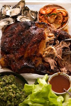 Momofuku Bossam - Korean Slow Cooked Pork The Effective Pictures We Offer You About Cooking - Food and drinks interests Kimchi, Boston Butt, Pork Recipes, Asian Recipes, Cooking Recipes, Hawaiian Recipes, Cooking Pork, Game Recipes, Barbecue Recipes