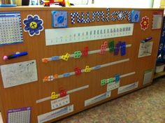 Velcro numicon line at child height. Year 1 Maths, Early Years Maths, Early Years Classroom, Early Math, Early Learning, Numeracy Display, Interactive Display, Number Display Eyfs, Maths Working Wall