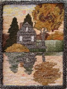 Honey Bee Hive rug hooking pattern from our CHARCO line. Daybreak, Designed by Pearl McGown & Jane McGown Flynn Rug Hooking Patterns, Rug Patterns, Hook Punch, Bee Supplies, Honey Bee Hives, Bee Boxes, Punch Needle Patterns, Hand Hooked Rugs, Penny Rugs