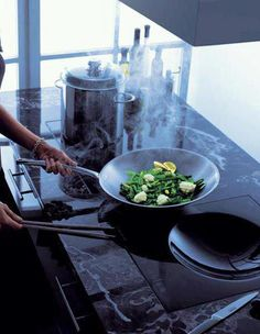 Did you know boiling or microwaving food can damage up to 70% of nutrients? Cooking with steam doesn't just mean tasty food; it's also the perfect way to eat healthily. #V-Zug Induction Hob