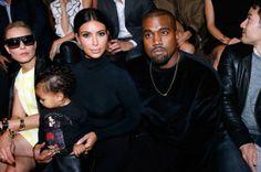 North West, Kim Kardashian West, and Kanye West