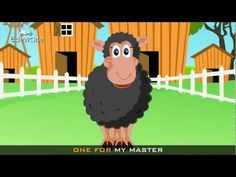 Edewcate english rhymes - Baa Baa black sheep nursery rhyme with lyrics