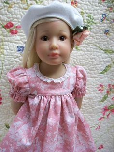 """18""""  Kidz """"n"""" Cats, Magic Attic, """"Dancing Girl"""" Dress and Beret by sewsallday on Etsy https://www.etsy.com/listing/293598191/18-kidz-n-cats-magic-attic-dancing-girl"""