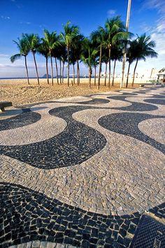 Copacabana,Rio de Janeiro, Brazil - Calçadão de Copacabana , like waves...