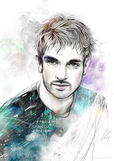 Man Portrait by Anna Ulyashina - illustrator, via Behance