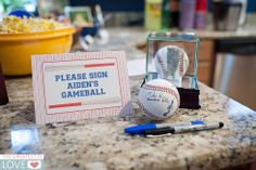 Baseball Birthday Party - Have guests sign a game ball