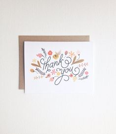 Thank You Card   Greeting Card  All occasion card  by PrintSmitten, $4.50