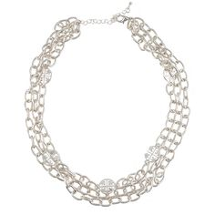 Add an edge to a classy look | Silver Multi Chain Isis Necklace | jewelboxonline.com