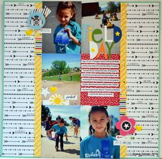 Layout: Field day (girl)