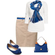 This outfit would look good with my Navy Blue Coach purse! Work Fashion, Cute Fashion, Modest Fashion, Fashion Outfits, Womens Fashion, Modest Outfits, Casual Outfits, Cute Outfits, Mode Ab 50