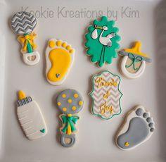 Gender neutral baby cookies - Kookie Kreations by Kim