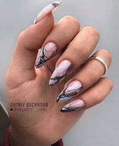 45 Trendy Almond Nail Art Designs You Must Try The Effective Pictures We Offer You About nail art videos A quality picture can tell you many things. You can find the most beautiful pictures that can be presented to you about nail art summer in thi Almond Nails Designs, Marble Nail Designs, Marble Nail Art, Acrylic Nail Designs, Nail Art Designs, Almond Nail Art, Almond Acrylic Nails, Almond Shape Nails, Cute Acrylic Nails