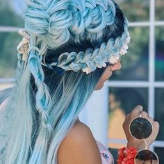 .  #braids #braidsinaction #braidstyles #braidstyle #braidgoals #braidgame #braidsganghair #bluehair #colorhair #bluehairdontcare #tranças #trança #amazingbraids #hairgoals #fishtailbraid #fishtail #fishtailbraids #bellamihair #bellamiwigs
