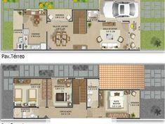 Confira dicas com fotos de plantas de casas modernas de 2 andares, para assim você ter novas ideias para sua obra e repassá-las a seu arquiteto.
