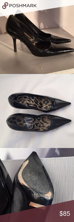 """Dolce & Gabbana Black Pumps Dolce & Gabbana Black Heels 2005. 3"""" Heel. A Little Worn Soles But Leather Very Good. I would wear in a heartbeat but too small for me. Have box bottom but not lid. Dolce & Gabbana Shoes Heels"""