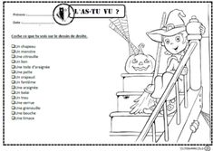 L'as-tu vu?, lire, lecture, compréhension, mots, cp, ce1, autonomie, dixmois Bricolage Halloween, Core French, French Class, French Lessons, Winter Art Projects, Halloween News, School Games, Kids Learning Activities, Teaching French