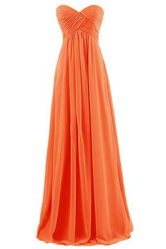 8c6999478b62 Women Strapless Sweetheart Ruched Zipper Back Maxi Chiffon Party Dress -  Coral