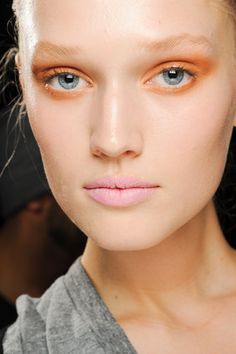 Donna Karan backstage makeup:  Key Makuep Artist: Charlotte Tilbury