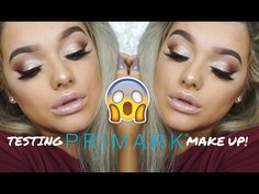 TESTING PRIMARK MAKE UP! Affordable, GLAM Look! | Rachel Leary AD - YouTube