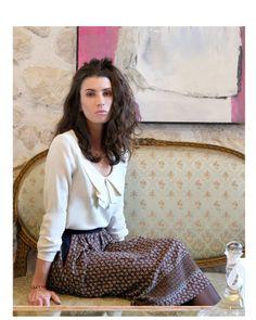 Top Solone patron de couture collection T&K Poignet boutonné. Format pochette ou pdf