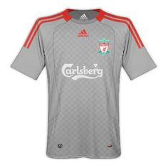 Gang of Sadap You: LFC 08/09 Liverpool Fc Kit, Football Kits, Mens Tops, Shirts, Grey, Sport, Classy Outfits, Soccer Kits, Gray