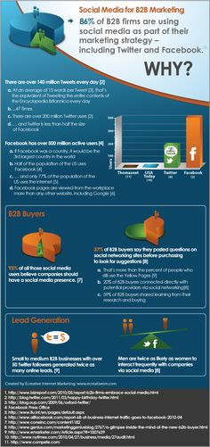 Social Marketing B2B Infographic