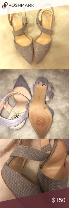 Vince camuto Faux soft snakeskin pumps 7 Brand new without box. True to size 7 Vince Camuto Shoes Heels
