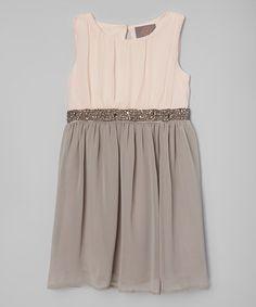 Love this Pink & Gray Anne Dress - Toddler & Girls on #zulily! #zulilyfinds