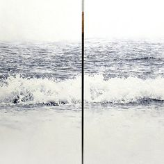 """The Wave II and III"" diptych from ""The Waves"" by Emilio Fornieles"