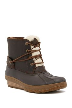 Tide Wedge Saltwater Shearling Sheep Genuine Boot Trim BqXqdg