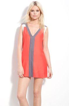 Spring 2013 Parker Colorblock Sleeveless Silk Minidress