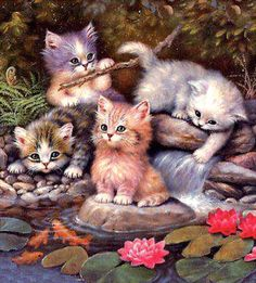 Fan Art of Sweet Kittens,Animated for fans of Cute Kittens. animated kittens