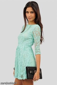 Nice mint lace dress 2017-2018