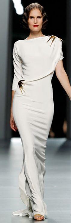 Juanjo Oliva white gown bridal maybe? elegant evening wedding or resort