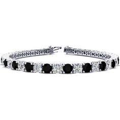 3-Row 1.00 Ct Diamond Tennis Bracelet Argent Sterling .925 MARQUISE DESIGN
