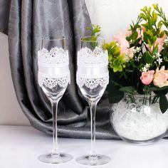 """Купить Свадебные бокалы """"Белиссимо"""" - бокалы для свадьбы, бокалы для молодоженов, бокалы для шампанского"""