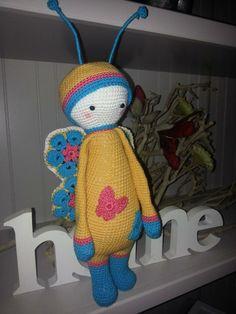butterfly mod made by Katja K.-A. / based on a lalylala crochet pattern