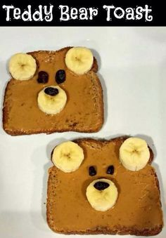 Tesdy bear Toast. Fun foods for kids :)