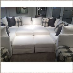 Contemporary sectional sofas sectional sofas and mitchell for Movie pit sectional sofa