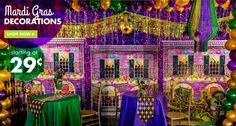 Fat Tuesday comes parading your way, trumpets blaring and colors blazing, with themed Mardi Gras party supplies, Mardi Gras decorations, and costumes and accessories from Party City. Description from partycity.com. I searched for this on bing.com/images