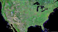 United States Map - United States Satellite Image